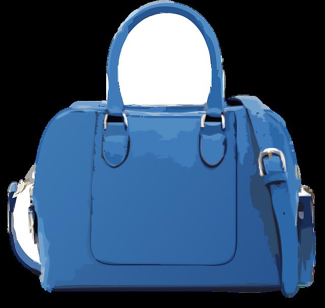 kabelka modrá