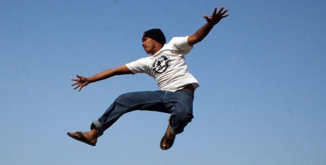 skákající černoch