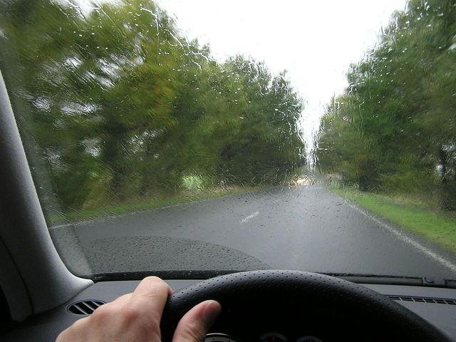 jízda za deště