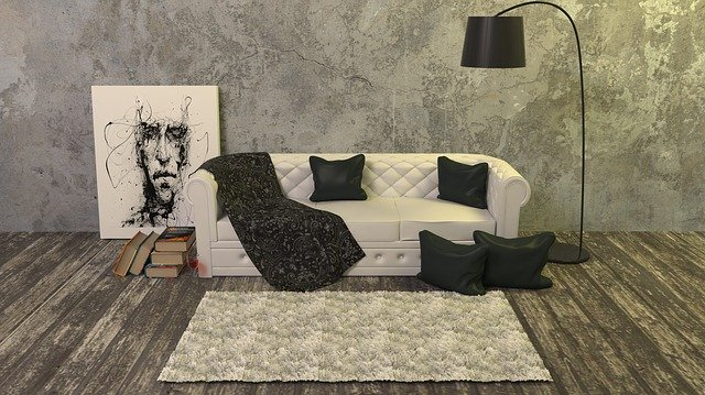 gauč interiér dekorace