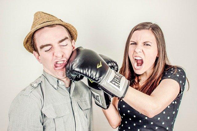 hádka ve vztahu